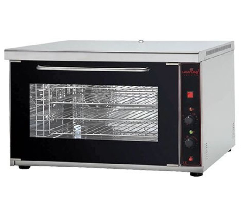 Caterchef Convection oven with humidifier - 4 x 1 / 1GN Deluxe - 88x64x55 (h) - 400V