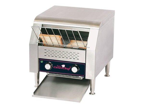 Caterchef Go through toaster | XXL Hotel - adjustable speed - 47x42x (H) 39cm - 2640W