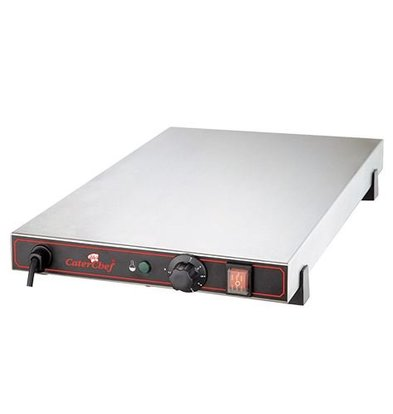 Caterchef Elektrische Kochplatte - Edelstahl - 60x40x (h) 9cm