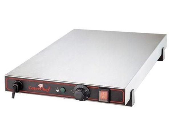 Caterchef Elektrische Warmhoudplaat - RVS - 60x40x(h)9cm