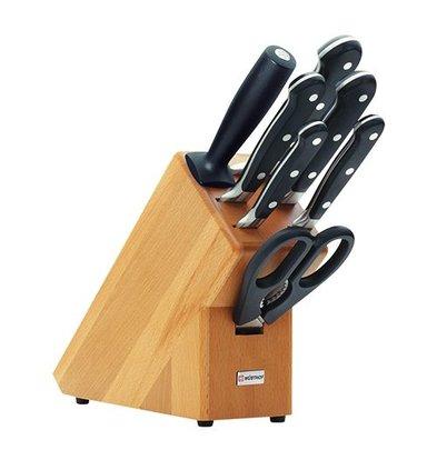 Wusthof Knife block with 5 knives + + scissors sharpener Wusthof - Dreizack