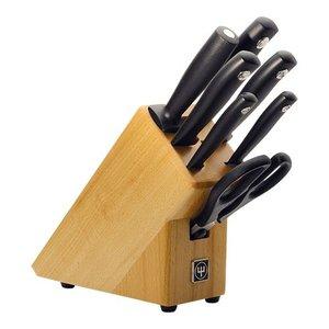 Wusthof Knife block with 4 cutters and scissors sharpening steel + + Hammes Wusthof - Dreizack