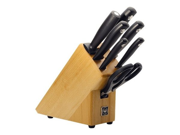 Wusthof Knife block with 4 cutters and scissors sharpening steel + + Hammes Wusthof - Dreizack