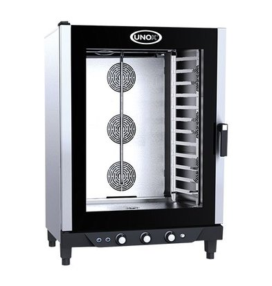 Unox Convection Oven - 860x900x (h) 1280mm - 400V - XV893 Cheflux Manual - 12 x 1/1 GN