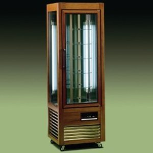 Diamond Refrigerated display case - 350 Liter - 6 rotating shelves - 60x61x (h) 185cm