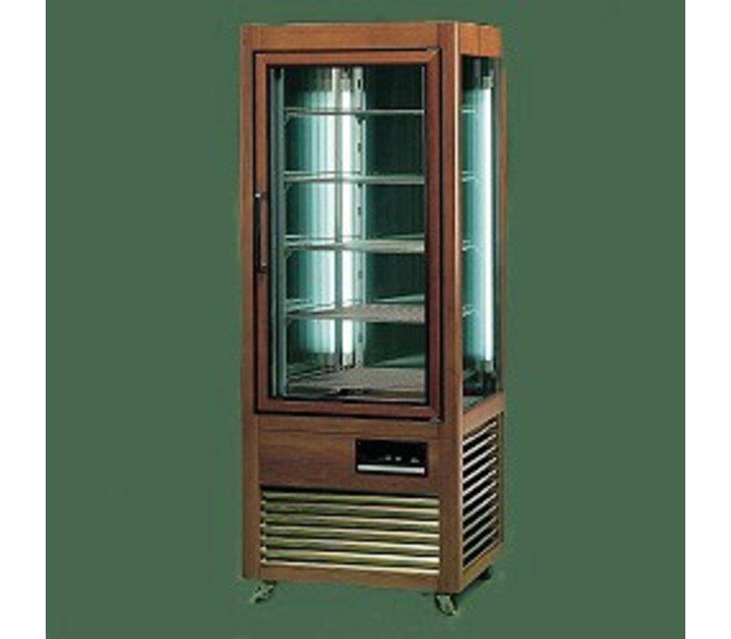Diamond Koelvitrine - Masief houten frame - 500 Liter - 5 roosters - 70x73x(h)183cm