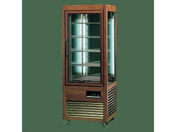 Diamond Koelvitrine - Masief houten frame - 500 Liter - 6 Draaiende Plateaus - 70x73x(h)183cm