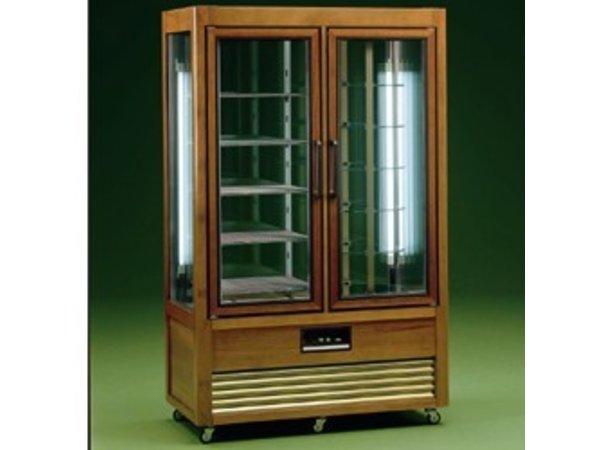 Diamond Kühlvitrine - 700 Liter - fünf Gittern - 6 rotierenden Ablagen - 114x61x (h) 185cm