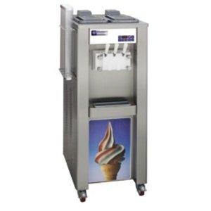 Diamond Soft ice cream machine - 37,5kg / hour - two flavors - one mixture - air condenser