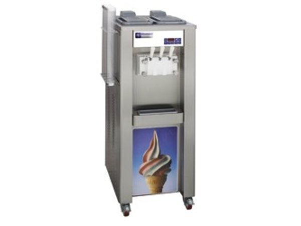Diamond Soft ice cream machine - 37,5kg / hour - two flavors - one mixture - air condenser