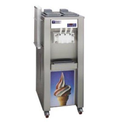 Diamond Softijsmachine - 37,5kg/uur - 2 smaken - 1 mengsel - watercondensator