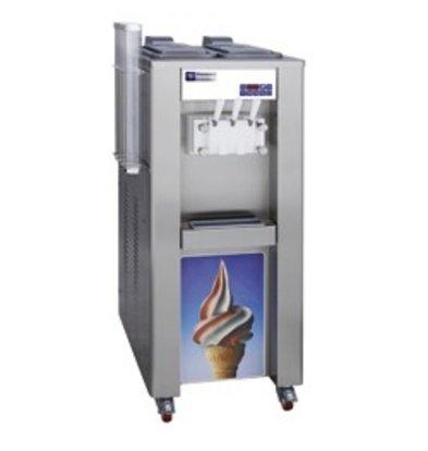 Diamond Soft ice cream machine - 45kg / hour - two flavors - one mixture - water condenser