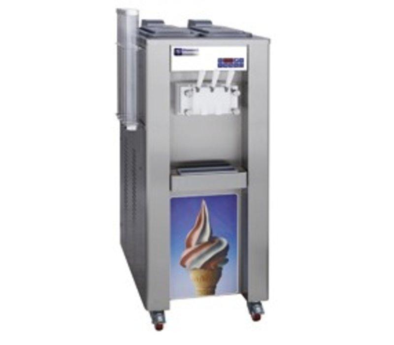Diamond Softeismaschine - 45kg / Stunde - zwei Geschmacksrichtungen - einer Mischung - Wasserkühler