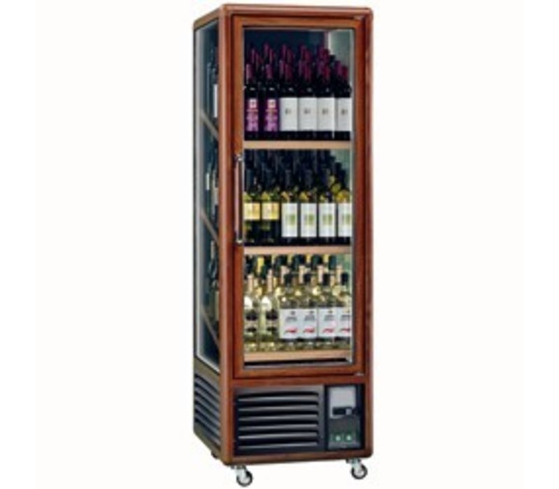 Diamond Wijnklimaatkast - Binnenverlichting - 340 Liter - 3 temperaturen - 594x615x(H)1810 mm