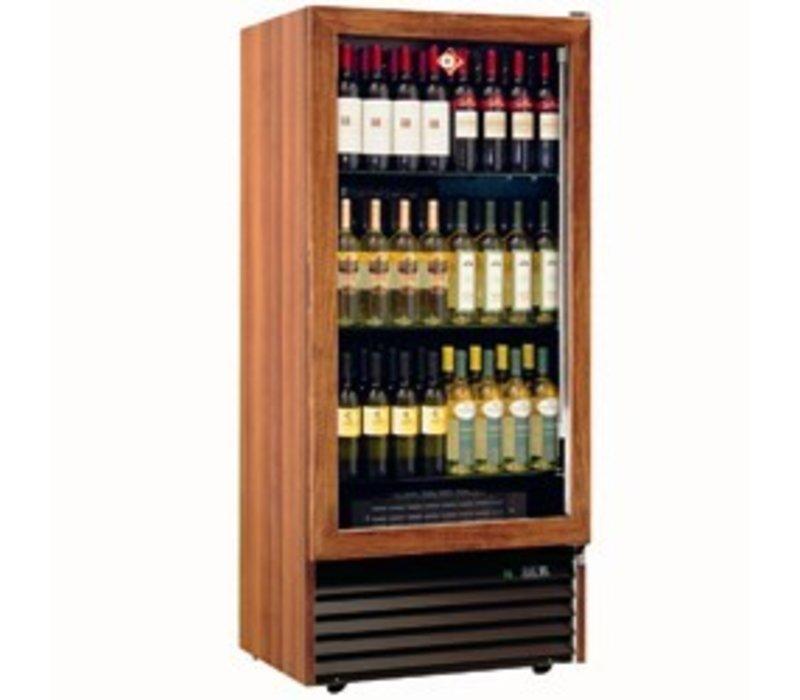 Diamond Wein Kühlschrank - 370 Liter - drei Ebenen - Gestell aus Massivholz - 723x550x (H) 1598 mm