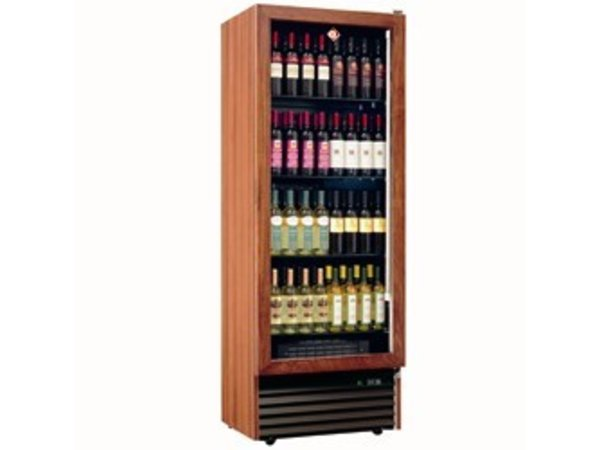 Diamond Wine Fridge - Frame in solid wood - 112 bottles / 500 Liter - 4 levels