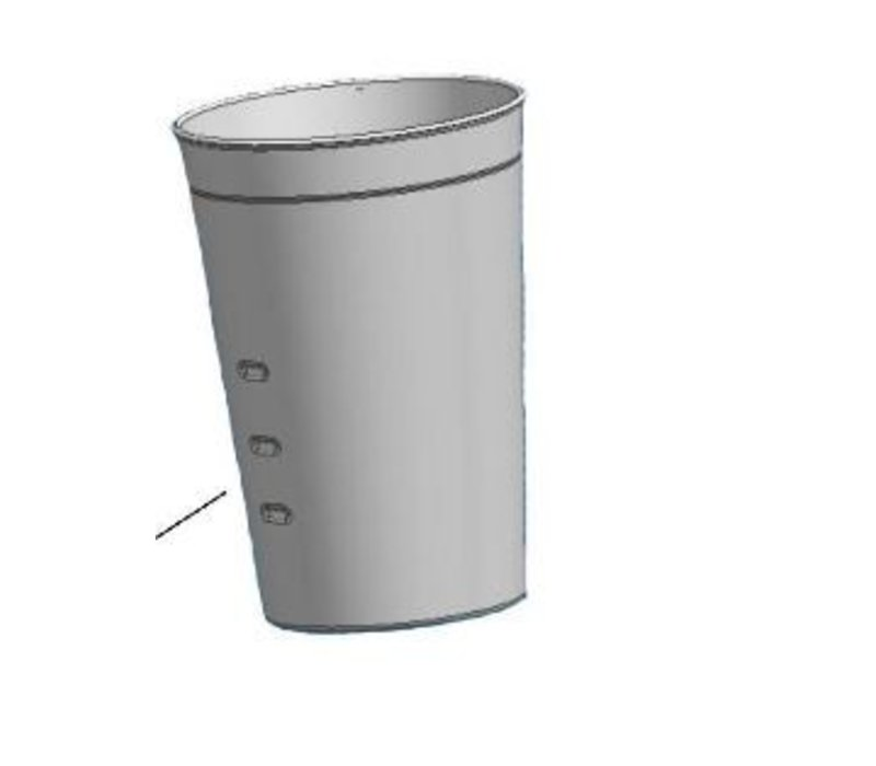 Bartscher Additional pour cup for the bar mixer / Milk Shaker - Basic - 0.7 liters