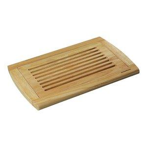Emga Broodsnijplank - rubberwood met kruimelvanger - 420x280x(h)20mm