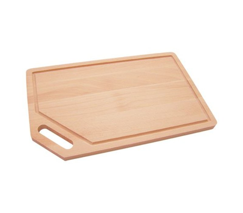 Emga Cutting board - beech - with trench - 450x260x (h) 20mm