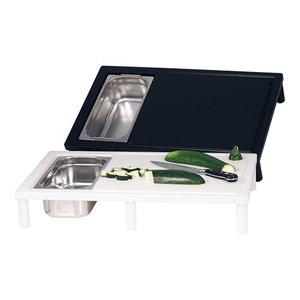 Emga Carving Unit - 650x400x (h) 110mm - white