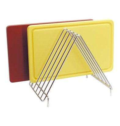 XXLselect Rack for 6 Chopping boards - 31x26x (h) 28 cm - Stainless steel