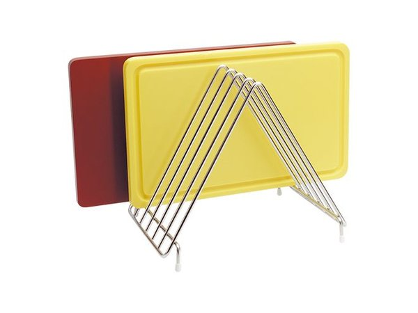 XXLselect Rack for 6 Chopping boards -31x26x (h) 28 cm stainless steel