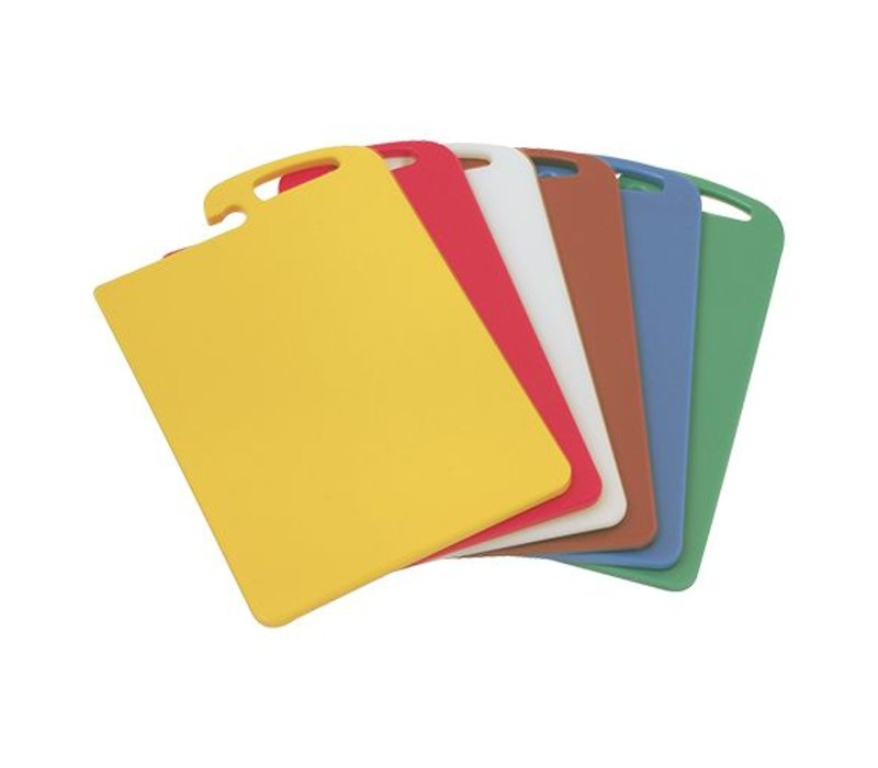 Caterchef Cutting Board - HDPE 500 - gully one side - 450x300x (h) 15mm - 6 Colours