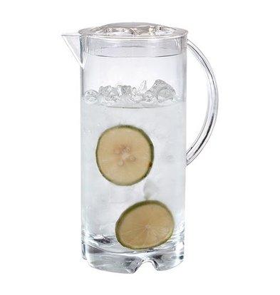 Emga Schenkkan | 2 Liter | Polycarbonaat | Transparant met Deksel | Hoogte 26cm