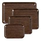 XXLselect Tray | Melaminlaminat | Luxus Holzmotiv | stapelbare + Scratch Kostenlose | 430x330mm
