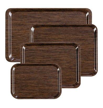 XXLselect Tray | Melamine Laminate | LUXURY Wood Motif | Stackable + Scratch Free | 430x330mm