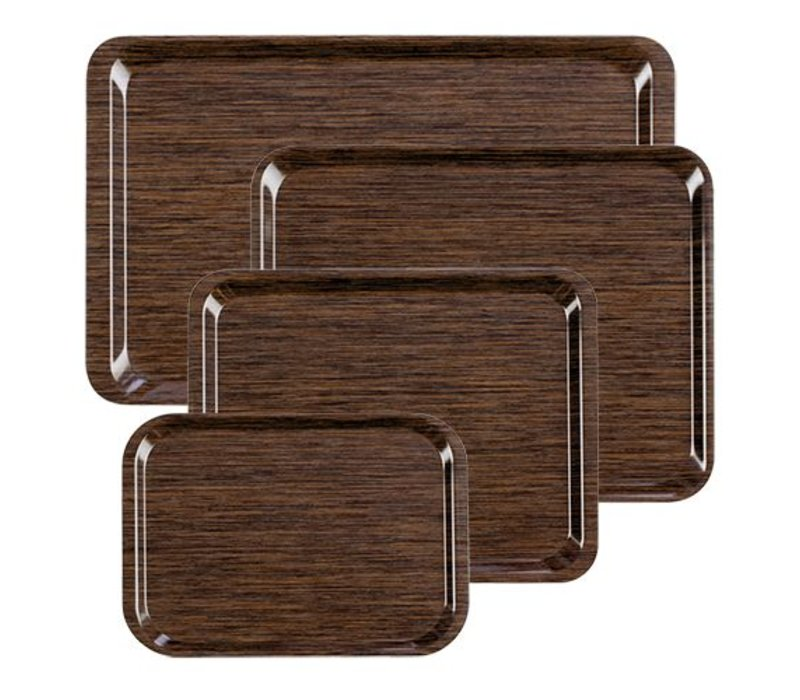 XXLselect Tray Melaminlaminat | stapelbare + Holzmotiv LUXE | 270x180mm