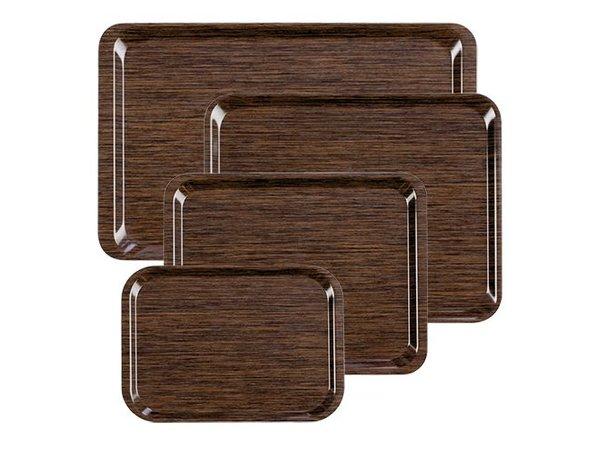 XXLselect FAST FOOD Tray | Melamine Laminate | Anti-Slip | Wood Motif | 1/1 GN | 530x325mm