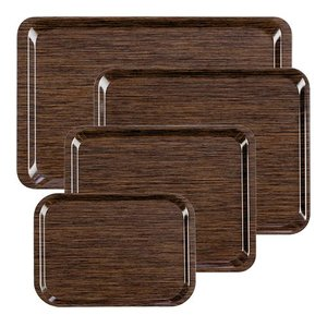 XXLselect FAST FOOD Tray | Melamine Laminate | Anti-Slip + Scratch free | Wood Motif | 375x265mm