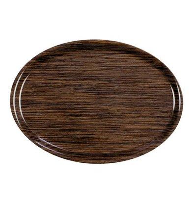 Roltex Tray Roltex | Melamine Laminate | Scratch free | Oval | Wood Motif | 280x200mm