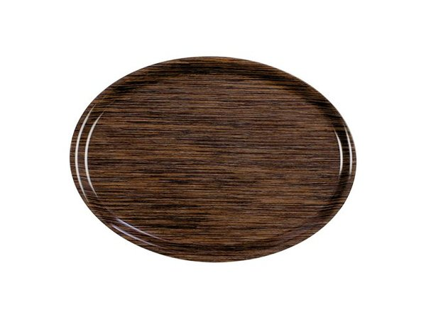 Roltex Tray Roltex | Melaminlaminat | Kratzer frei | Oval | Holzmotiv | 280x200mm