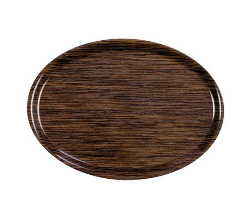 XXLselect Tray Roltex | Melamine Laminate | Scratch free | Oval | Wood Motif | 280x200mm