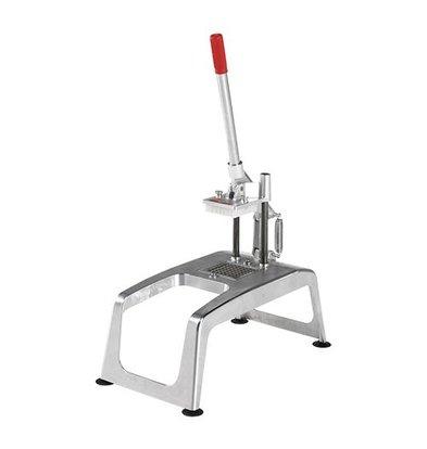 XXLselect Tischplatte mit Pommes Cutter Saug - RVS - Mesrooster 8x8mm