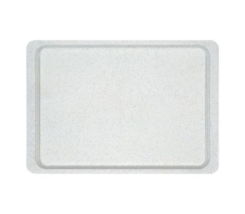 XXLselect Horeca Dienblad   Glasvezel Versterkt  Polyester   Alu Design   Trapezium   480x340mm
