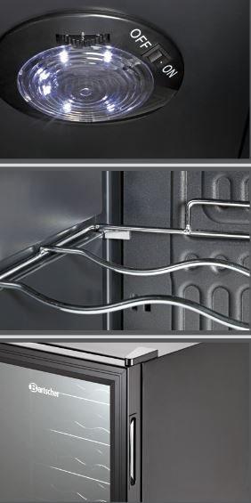 bartscher flaschen k hlschrank wein k hlschrank 28. Black Bedroom Furniture Sets. Home Design Ideas