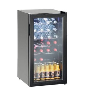 Bartscher Flessenkoelkast / Wijnkoelkast 28 flessen - 88 liter - LED Verlichting - 430x480x(H)820mm