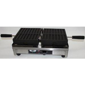 XXLselect Friet Wafelijzer - voor 2 x 8 Wafelfrietjes - 260x440x(h)220mm - 1.8KW