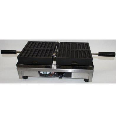 XXLselect Waffel Pommes - für 2 x 8 Waffle Fries - 260x440x (h) 220 mm - 1,8 kW