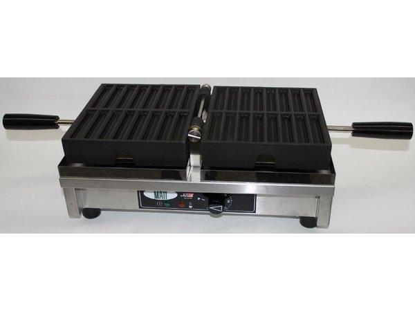 XXLselect Friet Wafelijzer - voor 2 x 8 Wafelfrietjes - 260x440x(h)220mm - 1.8KW