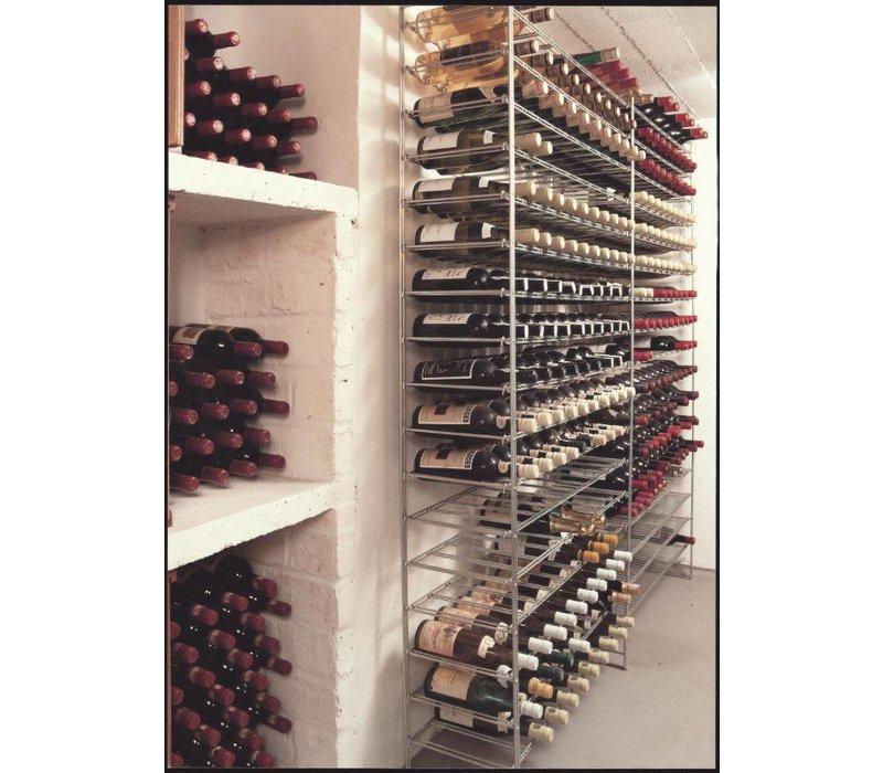 XXLselect Aanbouw - Wijnrek   Wijnstelling 18 niveaus- Opslag - 216 flessen - 75cl - 1200x300x1900mm