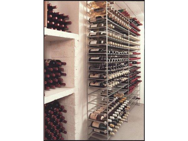 XXLselect Wijnrek | Wijnstelling 10 niveaus- Opslag - 100 flessen - 75cl - 1000x300x1050mm
