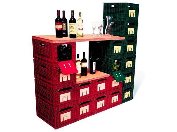 XXLselect WijnBox Opslag - Groen - 12 Flessen - Stapelbaar
