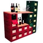 XXLselect WijnBox Raum - Rot - 12 Flaschen - stapelbar