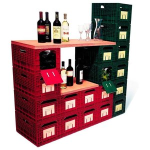 XXLselect WijnBox Storage - Red - 12 Bottles - Stackable