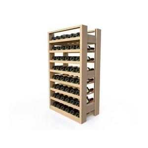 XXLselect Buchenholz Weinregal - 8 legvakken - 48 Flaschen