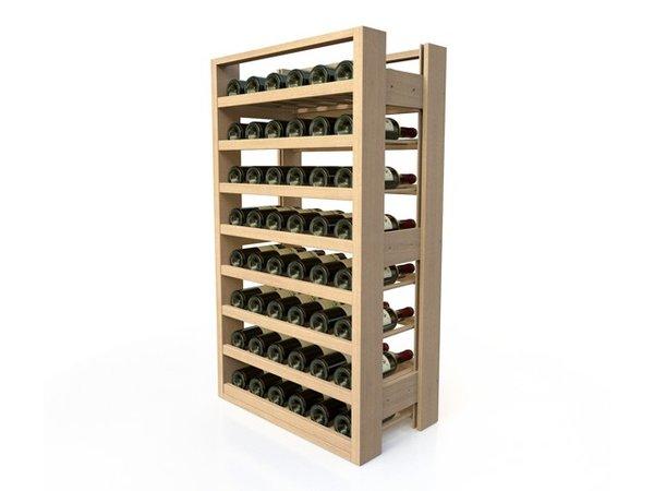 XXLselect Wijnrek Beukenhout - 8 legvakken - 48 Flessen